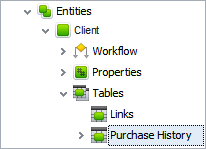 embed database tables