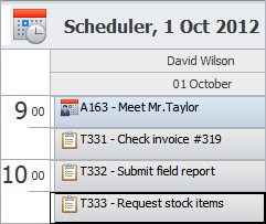 Field Service Software Jobs Schedule