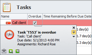 tracking task overdue