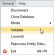 Validate and Commit Database Changes